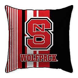 North Carolina State University Variegated Stripe Decorative Throw Pillow