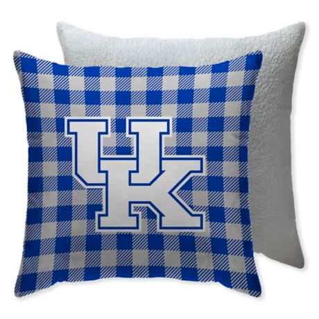 University Of Kentucky Checkered Square Indoor Outdoor Throw Pillow Bed Bath Beyond