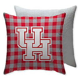 University of Houston Checkered Square Indoor/Outdoor Throw Pillow