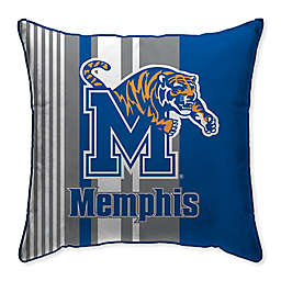 University of Memphis Variegated Stripe Decorative Throw Pillow