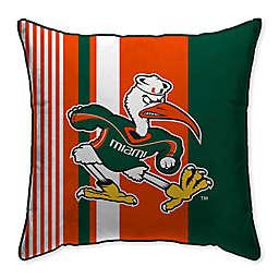 University of Miami Variegated Stripe Decorative Throw Pillow