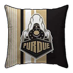 Purdue University Variegated Stripe Decorative Throw Pillow