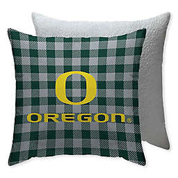 University of Oregon Checkered Square Indoor/Outdoor Throw Pillow