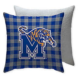 University of Memphis Checkered Square Indoor/Outdoor Throw Pillow
