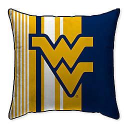 West Virginia University Variegated Stripe Decorative Throw Pillow
