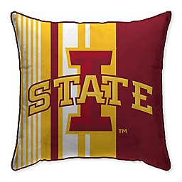 Iowa State University Variegated Stripe Decorative Throw Pillow