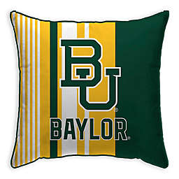 Baylor University Variegated Stripe Decorative Throw Pillow