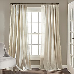 Rosalie 95-Inch Rod Pocket Window Curtain Panel Pair in Ivory