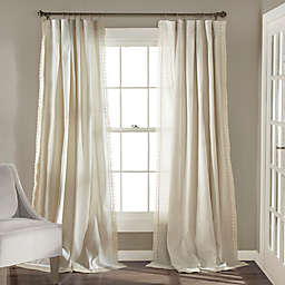 Rosalie 2-Pack 95-Inch Rod Pocket Window Curtain in Ivory