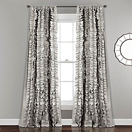Belle 84-Inch Rod Pocket Window Curtain Panel in Grey