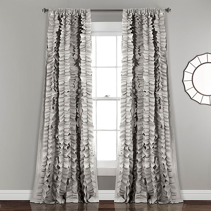 Alternate image 1 for Belle 84-Inch Rod Pocket Window Curtain Panel in Grey