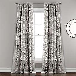 Belle 84-Inch Rod Pocket Window Curtain Panel in Grey (Single)