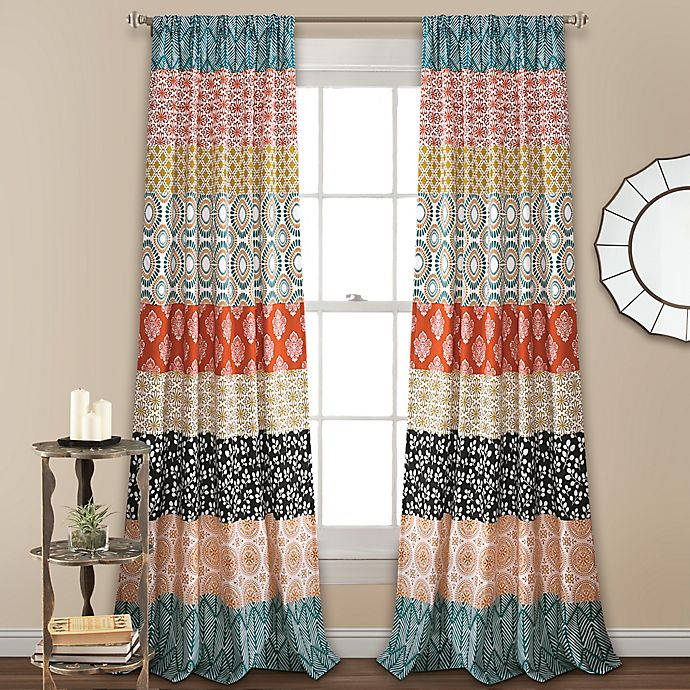 Alternate image 1 for Lush Decor Bohemian Stripe 2-Pack 84-Inch Light Filtering Rod Pocket Curtain Panels