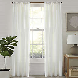 Tommy Bahama® Island Eyelet 84-Inch Rod Pocket/Back Tab Window Curtain Panel Pair in White