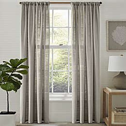Tommy Bahama® Linen Breeze 84-Inch Rod Pocket/Back Tab Window Curtain Panel Pair in Grey