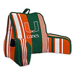 University of Miami Striped Backrest Pillow