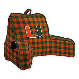 University of Miami Buffalo Check Backrest Pillow
