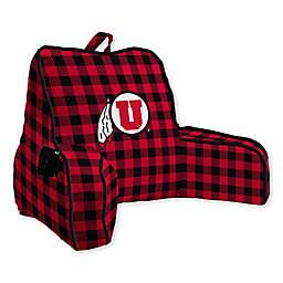 University of Utah Buffalo Check Backrest Pillow