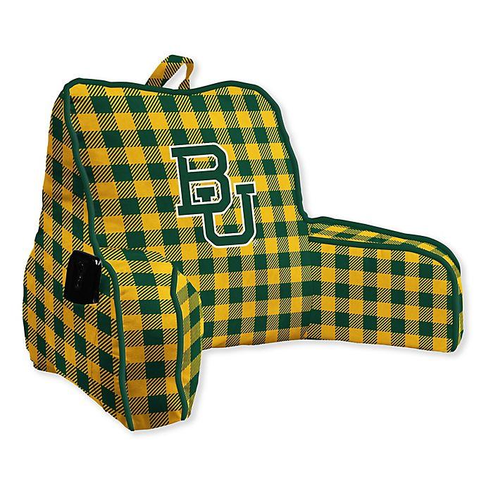 Alternate image 1 for Baylor University Buffalo Check Backrest Pillow