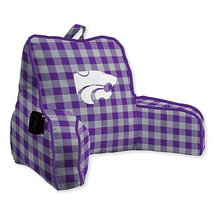 Alternate image 1 for Kansas State University Buffalo Check Backrest Pillow