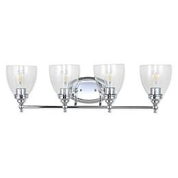 Jonathan Y Marais 4-Light LED Wall Sconce with Bulbs and Glass Shades