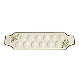 Lennox® Holiday™ Deviled Egg Tray in Green/Red