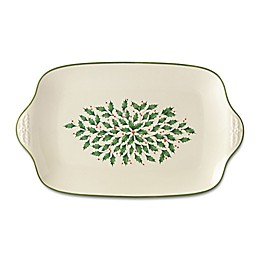 Lennox® Holiday™ 19-Inch Serving Platter in Green/Red