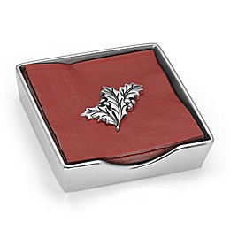 Lennox® Holiday™ Napkin Box with Weight in Nickel/Silver