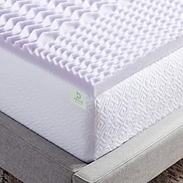 Dream Collection™ 2-Inch 5-Zone Lavender Foam Mattress Topper in Purple