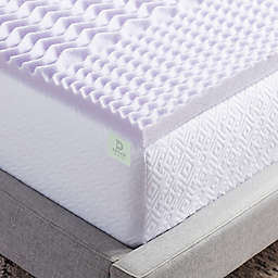 Dream Collection™ 2-Inch 5-Zone Lavender California King Foam Mattress Topper in Purple