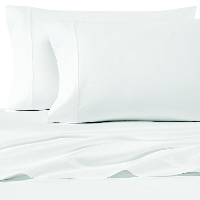 Alternate image 1 for SALT™ 200-Thread-Count Cotton Percale Queen Sheet Set in White