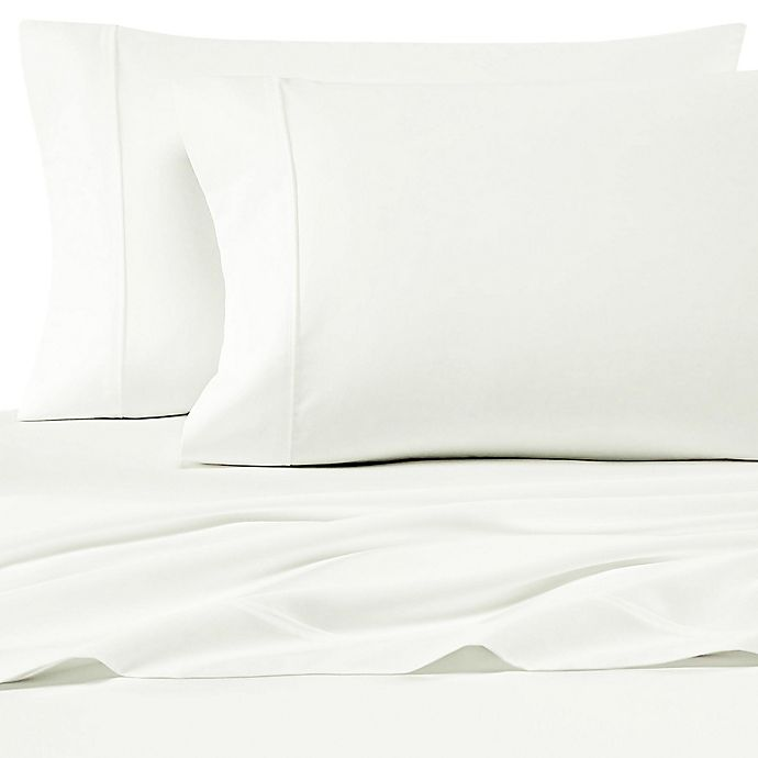 Alternate image 1 for SALT™ 200-Thread-Count Cotton Percale Standard Pillowcases in Ivory (Set of 2)