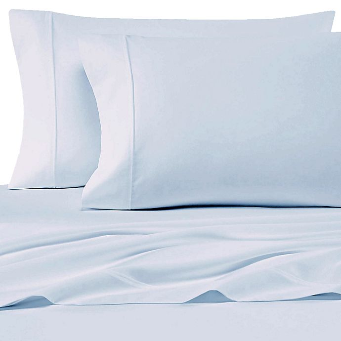 Alternate image 1 for SALT™ 200-Thread-Count Cotton Percale Standard Pillowcases in Light Blue (Set of 2)