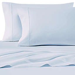 SALT™ 200-Thread-Count Cotton Percale Twin Sheet Set in Light Blue