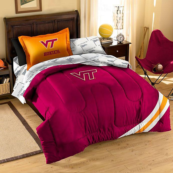 Alternate image 1 for Virginia Tech Hokies Applique Bedding Sets