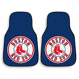 Boston Red Sox Carpet Car Mat (Set of 2)