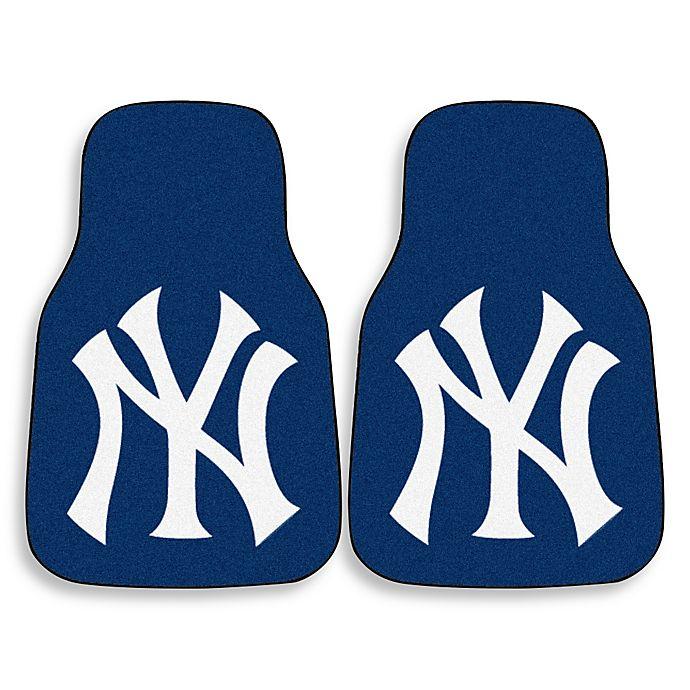 Alternate image 1 for MLB New York Yankees Carpet Car Mat (Set of 2)