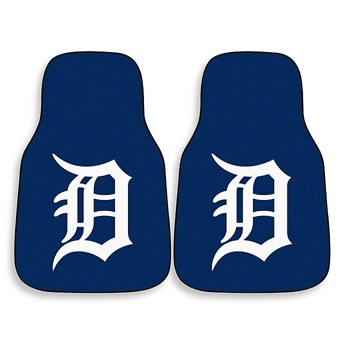 Alternate image 1 for MLB Detroit Tigers Carpet Car Mat (Set of 2)