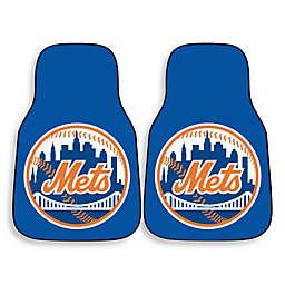 MLB New York Mets Carpet Car Mat (Set of 2)