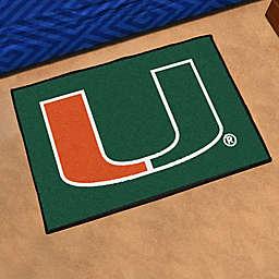 "University of Miami 19"" x 30"" Starter Mat"