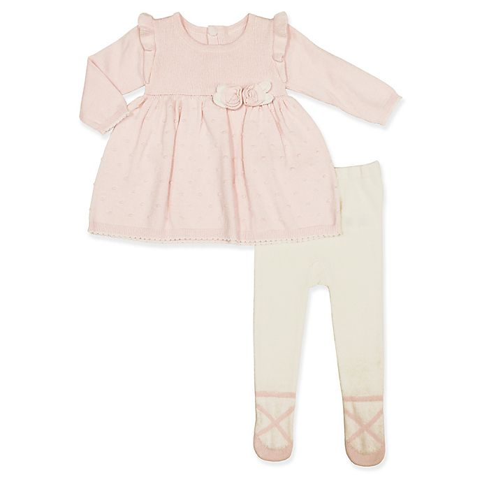 Alternate image 1 for Clasix Beginnings™ by Minibasix® 2-Piece Dress and Tights Set in Pink