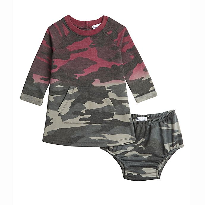 Alternate image 1 for Splendid® 2-Piece Kanga Pocket Dress and Diaper Cover Set in Camo