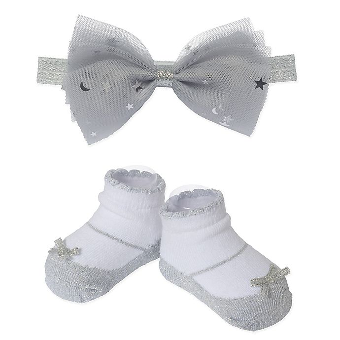 Alternate image 1 for So 'Dorable™ 3-Piece Tulle Headband and Booties Set