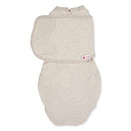 embe® Starter 2-Way Organic Cotton Swaddle in Tan Stripe