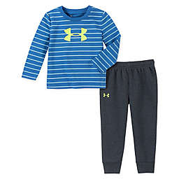 Under Armour® 2-Piece Stripe Shirt and Pant Set in Blue