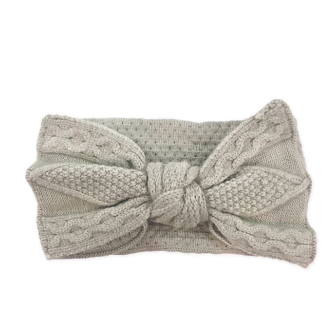 Alternate image 1 for NYGB™ Fishermen Cable Knot Bow Headband in Taupe