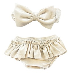 Toby Fairy™ 2-Piece Glitter Bow Headband and Diaper Cover Set