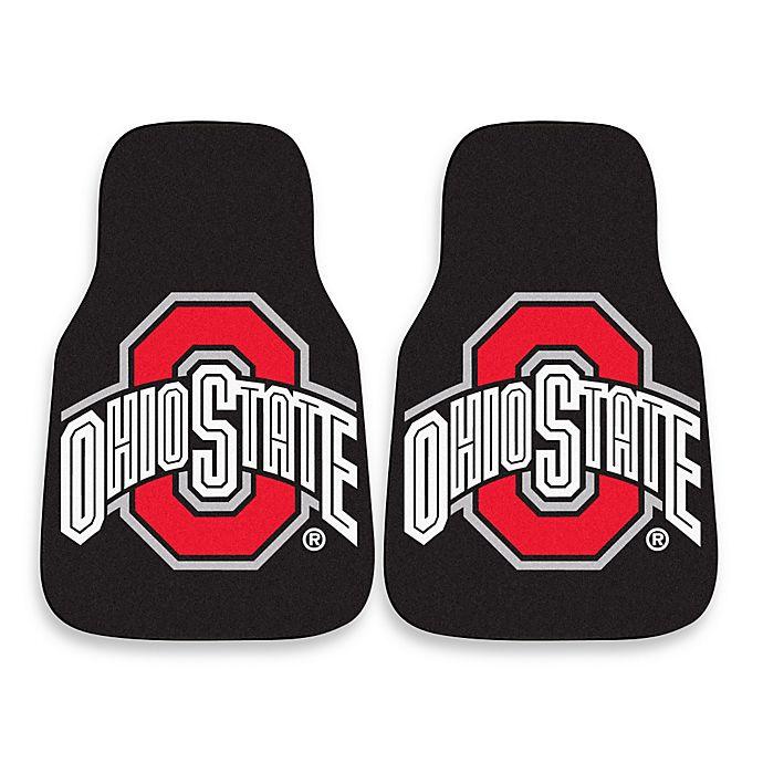 Alternate image 1 for Ohio State University Carpeted Car Mats (Set of 2)