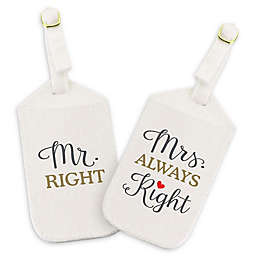 Lillian Rose™ Mr. & Mrs. Right Luggage Tags in Off White (Set of 2)