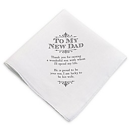 Lillian Rose™ New Dad Keepsake Hankie in White